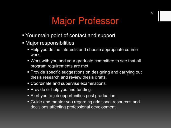 Major Professor