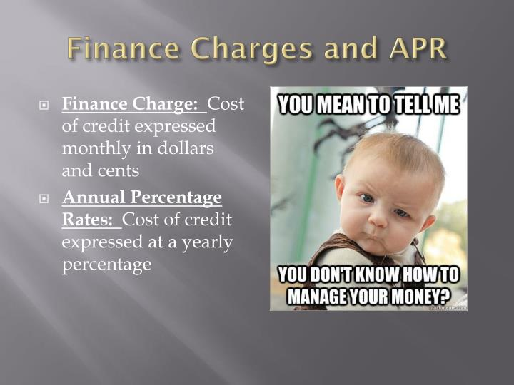 Finance Charges and APR