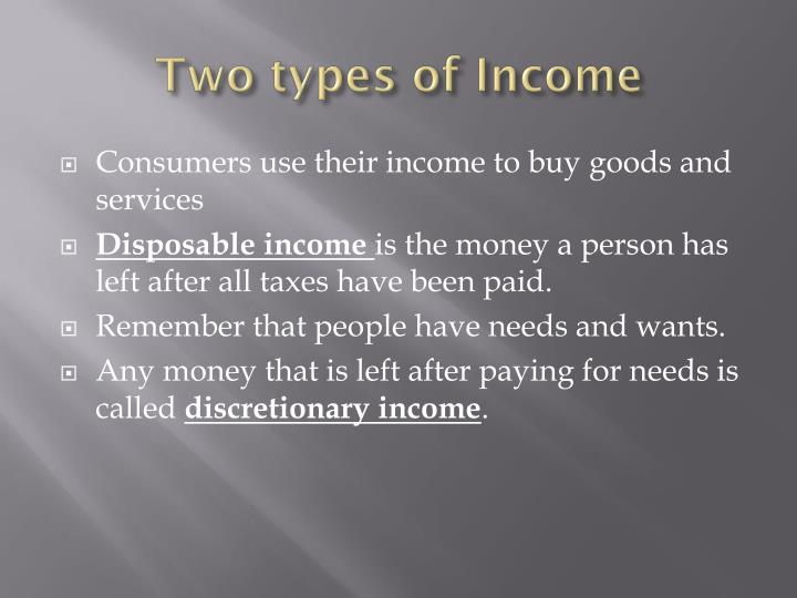 Two types of Income