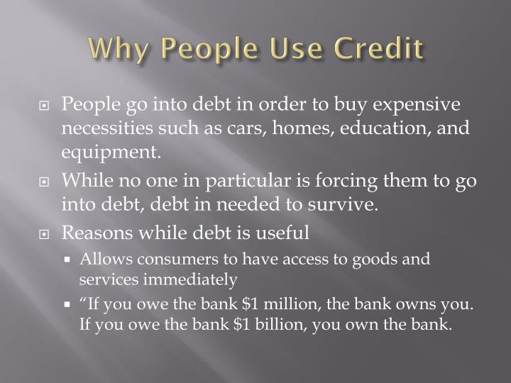 Why People Use Credit