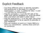 explicit feedback