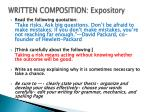 written composition expository