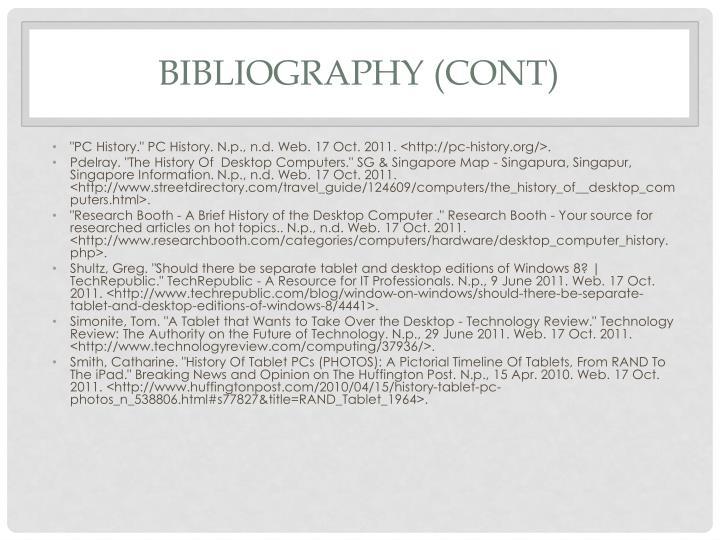 Bibliography (