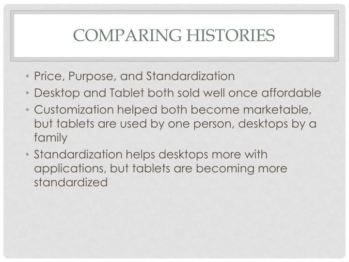 Comparing Histories