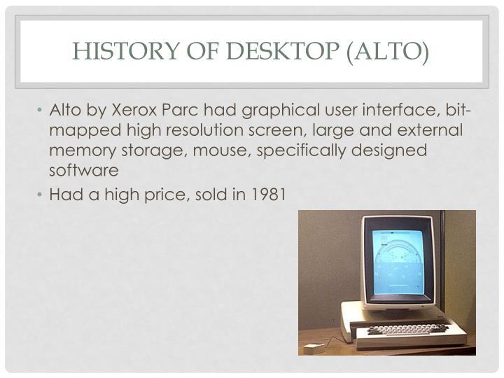 History of desktop (Alto)