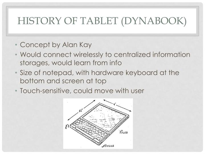 History of Tablet (Dynabook)