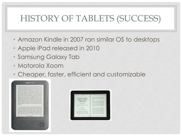 History of Tablets (Success)