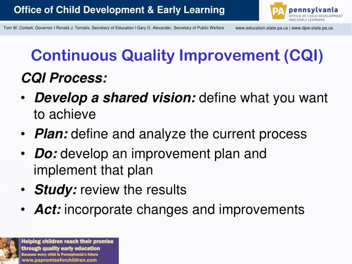 Continuous Quality Improvement (CQI)