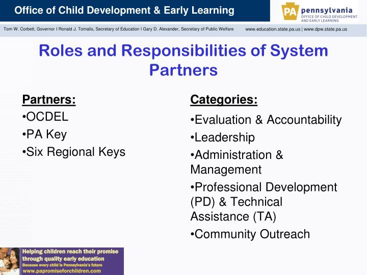 Roles and Responsibilities of System Partners