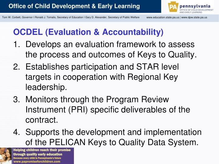 OCDEL (Evaluation & Accountability)