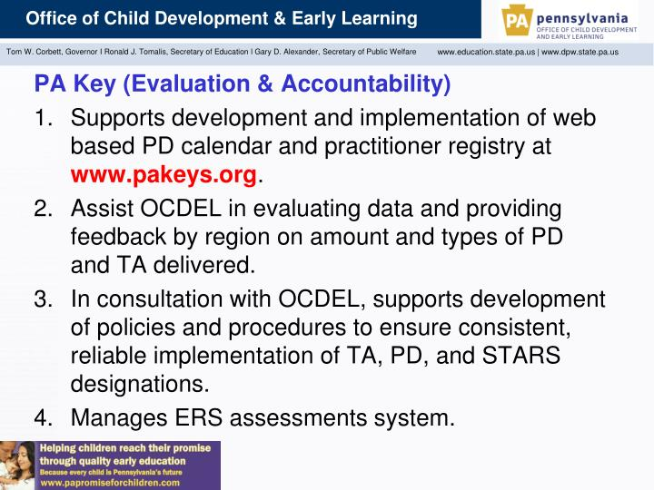 PA Key (Evaluation & Accountability)