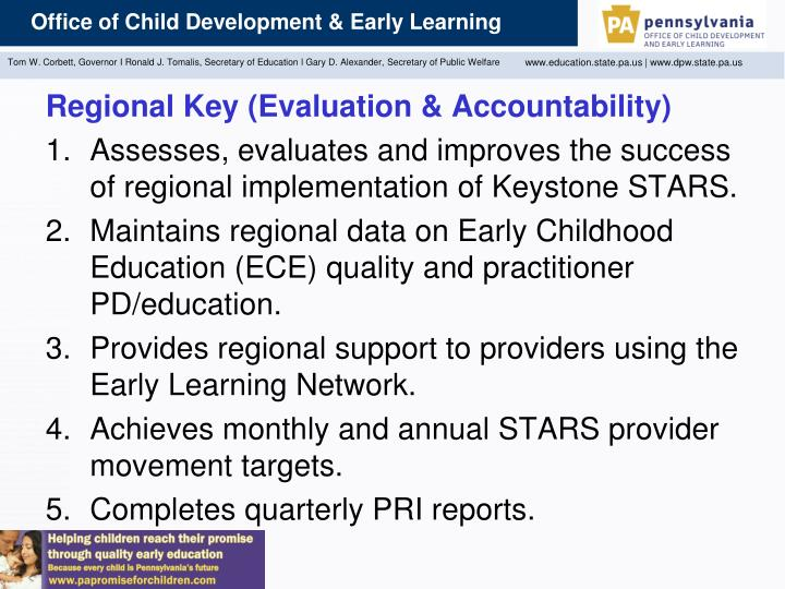 Regional Key (Evaluation & Accountability)