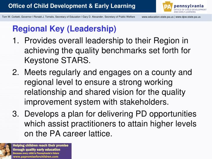 Regional Key (Leadership)