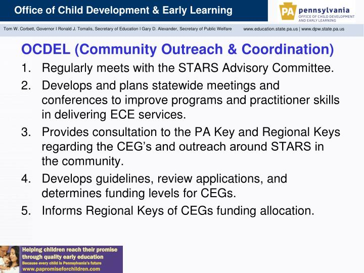 OCDEL (Community Outreach & Coordination)