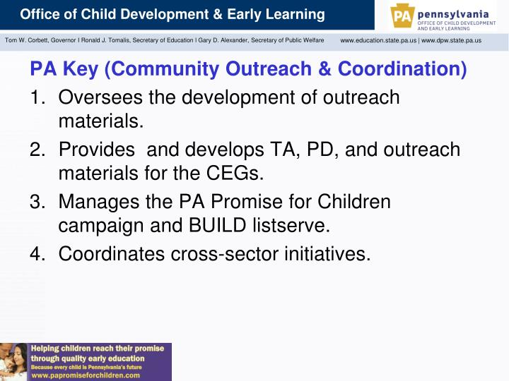 PA Key (Community Outreach & Coordination)