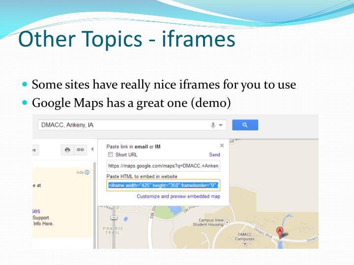 Other Topics -