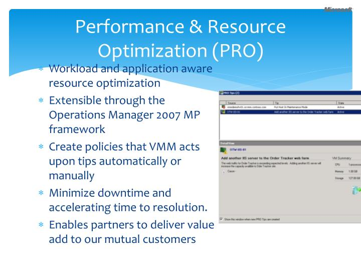 Performance & Resource Optimization (PRO)