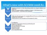 what s new with scvmm 2008 r2