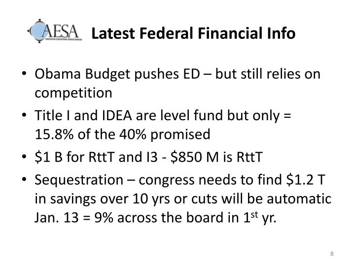 Latest Federal Financial Info