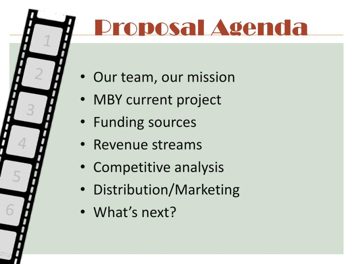 Proposal Agenda