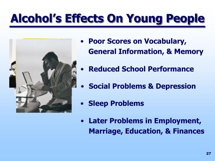 Alcohol's Effects On Young People