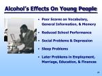 alcohol s effects on young people