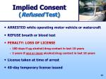 implied consent refused test