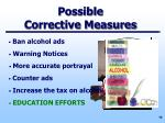 possible corrective measures