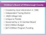 children s board of hillsborough county