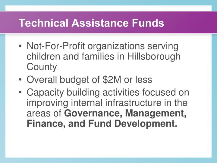 Technical Assistance Funds