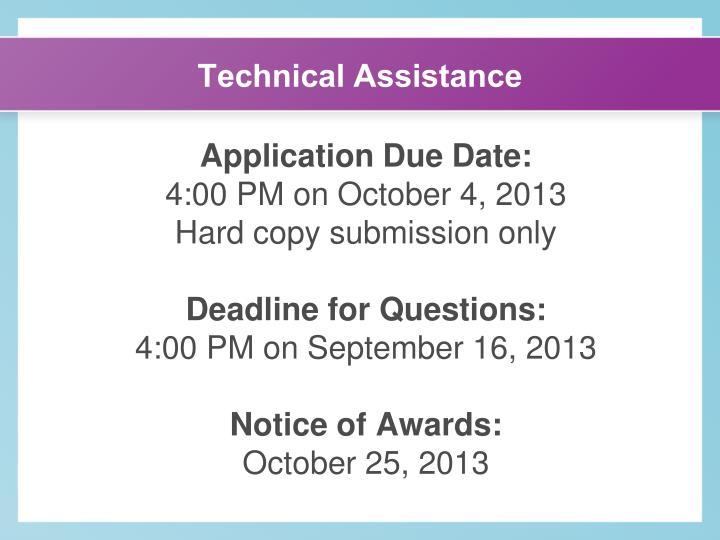 Technical Assistance