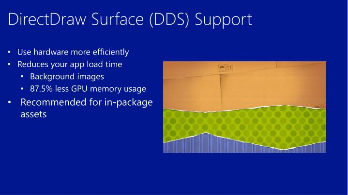 DirectDraw Surface (DDS) Support