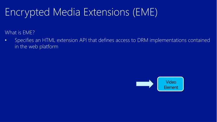 Encrypted Media Extensions (EME)