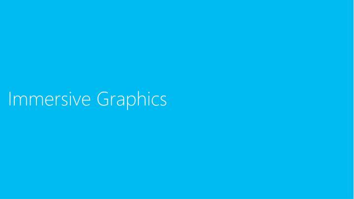 Immersive Graphics