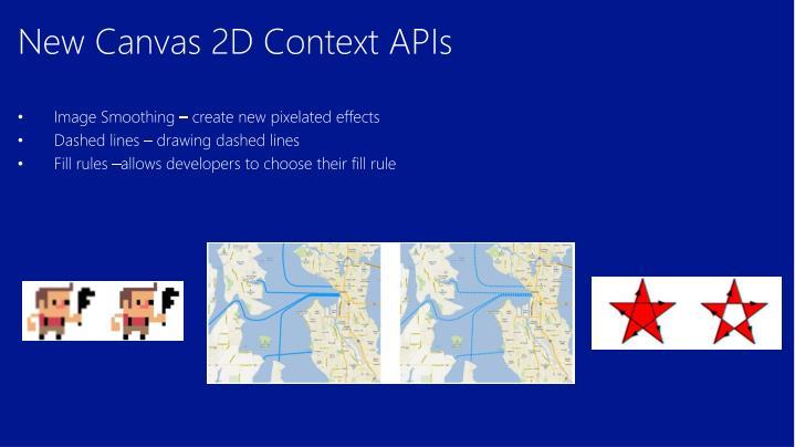 New Canvas 2D Context APIs