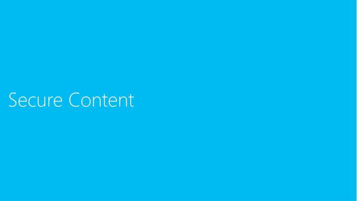 Secure Content