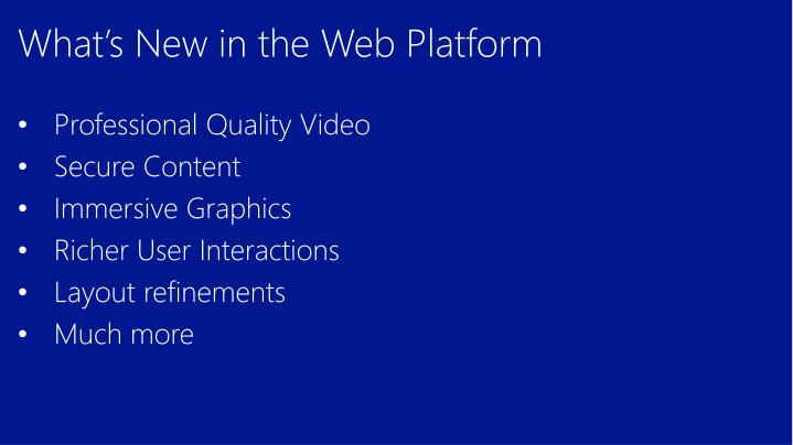 What's New in the Web Platform