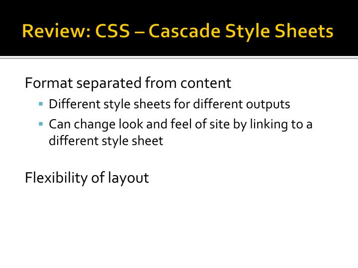 Review: CSS