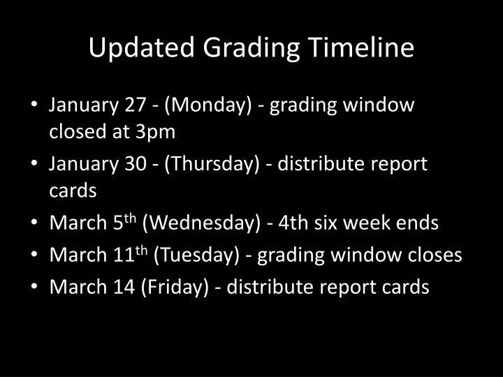 Updated Grading Timeline