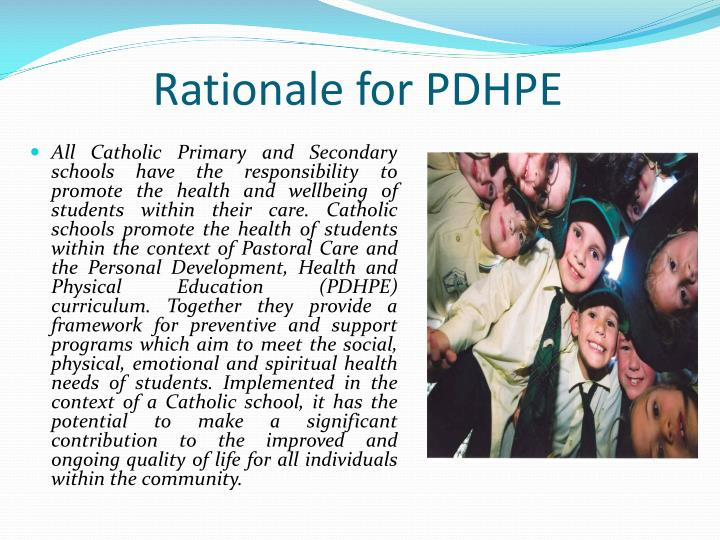 Rationale for pdhpe