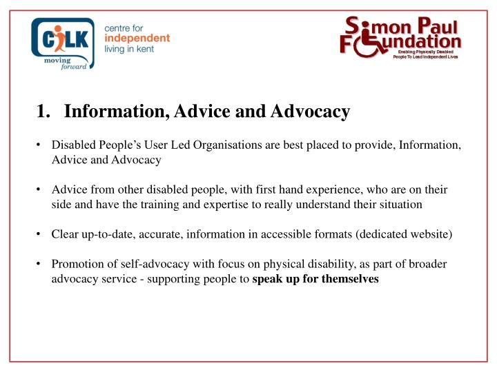 Information, Advice and Advocacy