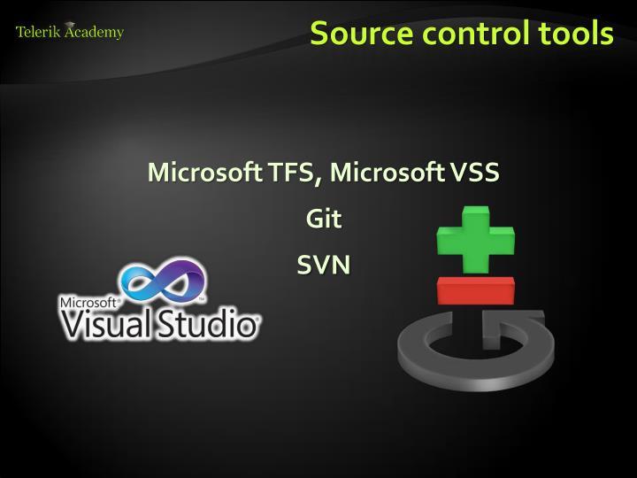 Source control tools