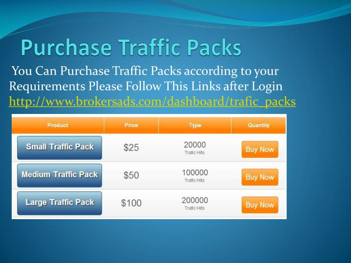 Purchase Traffic Packs