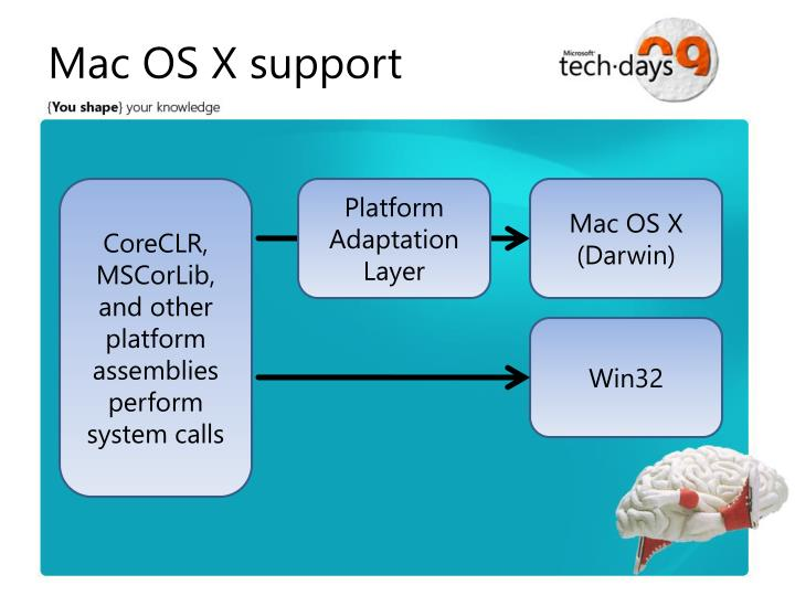 Mac OS X support