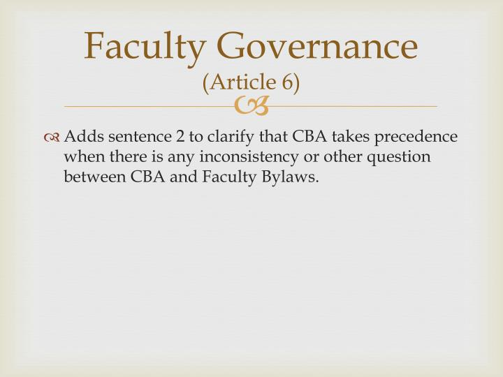 Faculty Governance