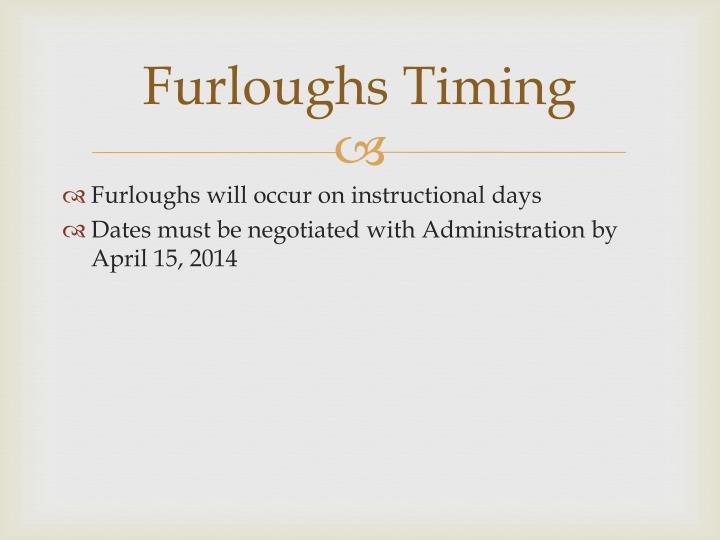 Furloughs Timing