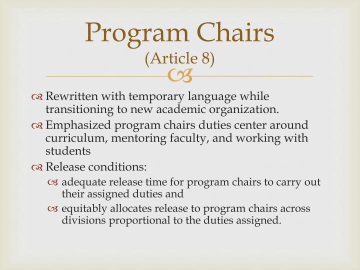 Program Chairs