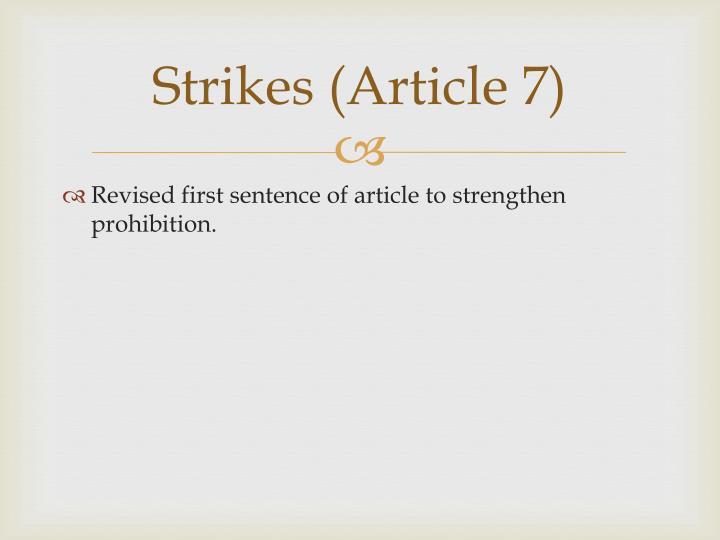 Strikes (Article 7)