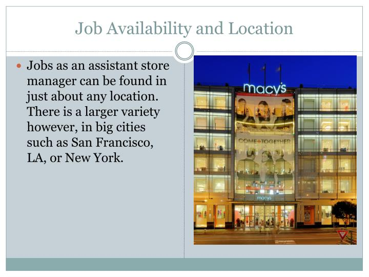 Job Availability and Location