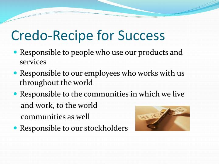 Credo-Recipe for Success